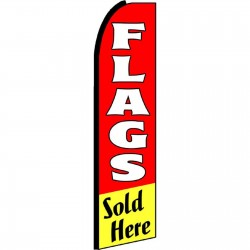 Flags Sold Here Red Extra Wide Swooper Flag