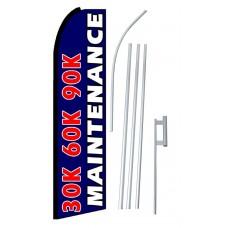 30K 60K 90K Maintenance Extra Wide Swooper Flag Bundle