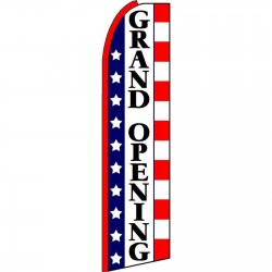 Grand Opening Stars & Stripes Extra Wide Swooper Flag