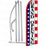 Grand Opening Stars & Stripes Extra Wide Swooper Flag Bundle