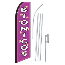 Bionicos (Smoothies) Extra Wide Swooper Flag Bundle