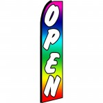 Open Rainbow Extra Wide Swooper Flag