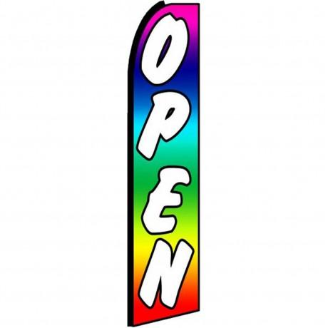Open Rainbow Extra Wide Swooper Flag