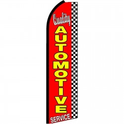 Quality Automotive Service Extra Wide Swooper Flag
