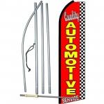 Quality Automotive Service Extra Wide Swooper Flag Bundle