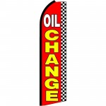 Oil Change Checkered Extra Wide Swooper Flag