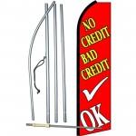 No Credit Bad Credit OK Extra Wide Swooper Flag Bundle