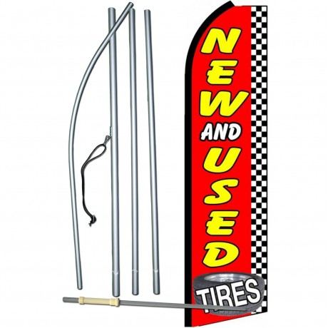 New And Used Tires Checkered Extra Wide Swooper Flag Bundle Sw10580 4pl Sgs By Www Neoplexonline Com