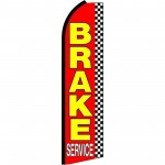 Brake Service Checkered Extra Wide Swooper Flag