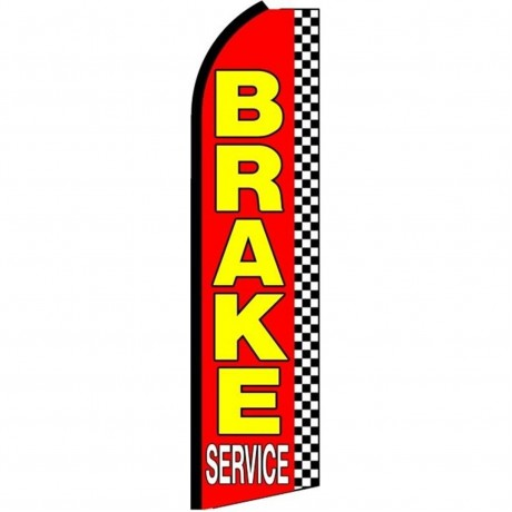 Brake Service Red Checkered Extra Wide Swooper Flag