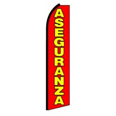 Aseguranza(Insurance) Extra Wide Swooper Flag