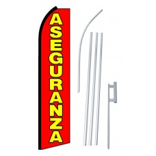 Aseguranza (Insurance) Extra Wide Swooper Flag Bundle