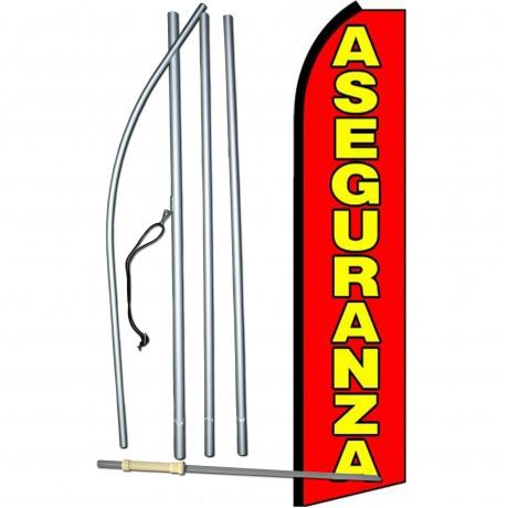 Aseguranza Extra Wide Swooper Flag Bundle