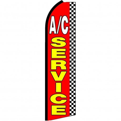 A/C Service Checkered Extra Wide Swooper Flag