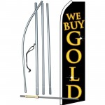 We Buy Gold Black Gold Swooper Flag Bundle