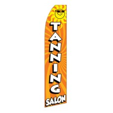 Tanning Salon with Sun Swooper Flag