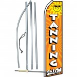 Tanning Salon with Sun Swooper Flag Bundle