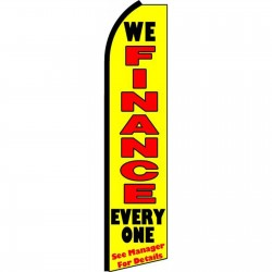 We Finance Everyone Yellow Extra Wide Swooper Flag