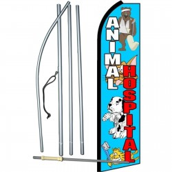 Animal Hospital Extra Wide Swooper Flag Bundle
