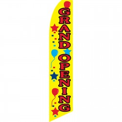 Grand Opening Balloons Swooper Flag