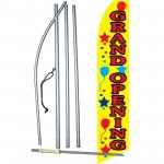 Grand Opening Balloons Swooper Flag Bundle