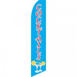 Cocktails Blue Swooper Flag