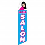 Hair Salon Blue Swooper Flag