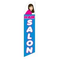 Hair Salon Blue Pink Swooper Flag