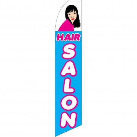 Hair Salon Blue Swooper Flag