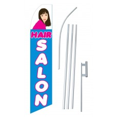 Hair Salon Blue & Pink Swooper Flag Bundle