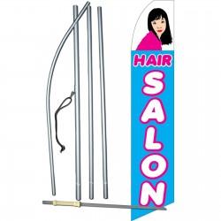 Hair Salon Blue & Pink Swooper Flag Bundle