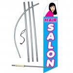 Hair Salon Blue Windless Swooper Flag Bundle