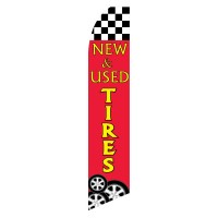 New & Used Tires Red Swooper Flag
