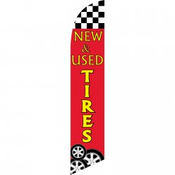 New & Used Tires Red Windless Swooper Flag