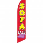 Sofa Sale Red Yellow Swooper Flag