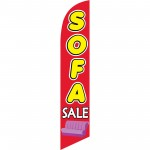 Sofa Sale Red Yellow Windless Swooper Flag