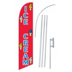 Ice Cream Red Blue Windless Swooper Flag Bundle