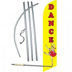 Dance Yellow Red Windless Swooper Flag Bundle