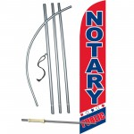 Notary Public Windless Swooper Flag Bundle