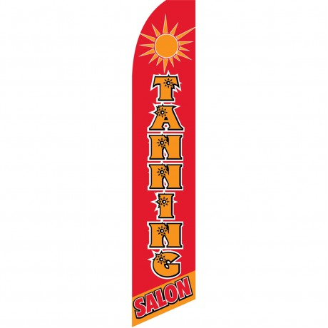 Tanning Salon Red Swooper Flag