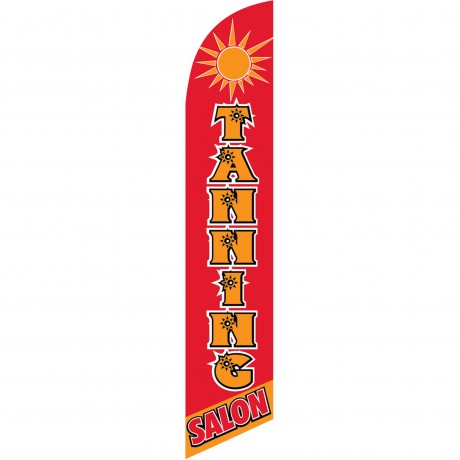 Tanning Salon Red Windless Swooper Flag