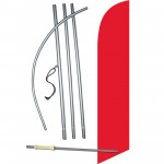 Solid Red Windless Swooper Flag Bundle