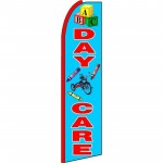 Day Care Blue Extra Wide Swooper Flag