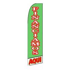 Financiamos Aqui(We Finance Here) Extra Wide Swooper Flag