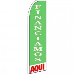 Financiamos Aqui(We Finance Here) Extra Wide Swooper Flag