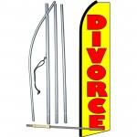 Divorce Extra Wide Swooper Flag Bundle