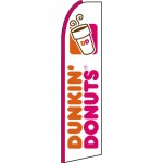 Dunkin Donuts White Extra Wide Swooper Flag