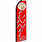 Funnel Cakes Red Extra Wide Swooper Flag