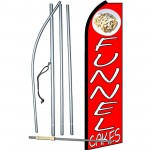 Funnel Cakes Red Extra Wide Swooper Flag Bundle