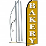 Bakery Gold Extra Wide Swooper Flag Bundle